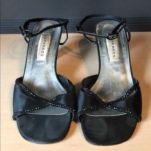Dressy Black Sandal Heels